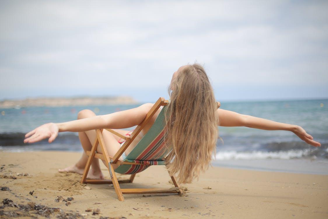 acostado, al aire libre, arena