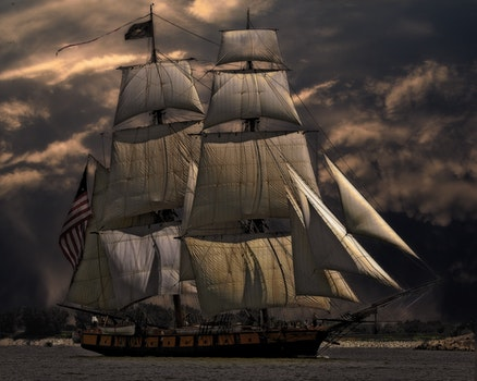 Free stock photo of sea, water, ocean, sailing ship