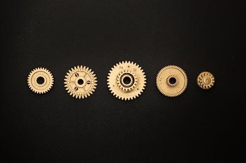 ゴールデン, コグ, スプロケット, 円形の無料の写真素材