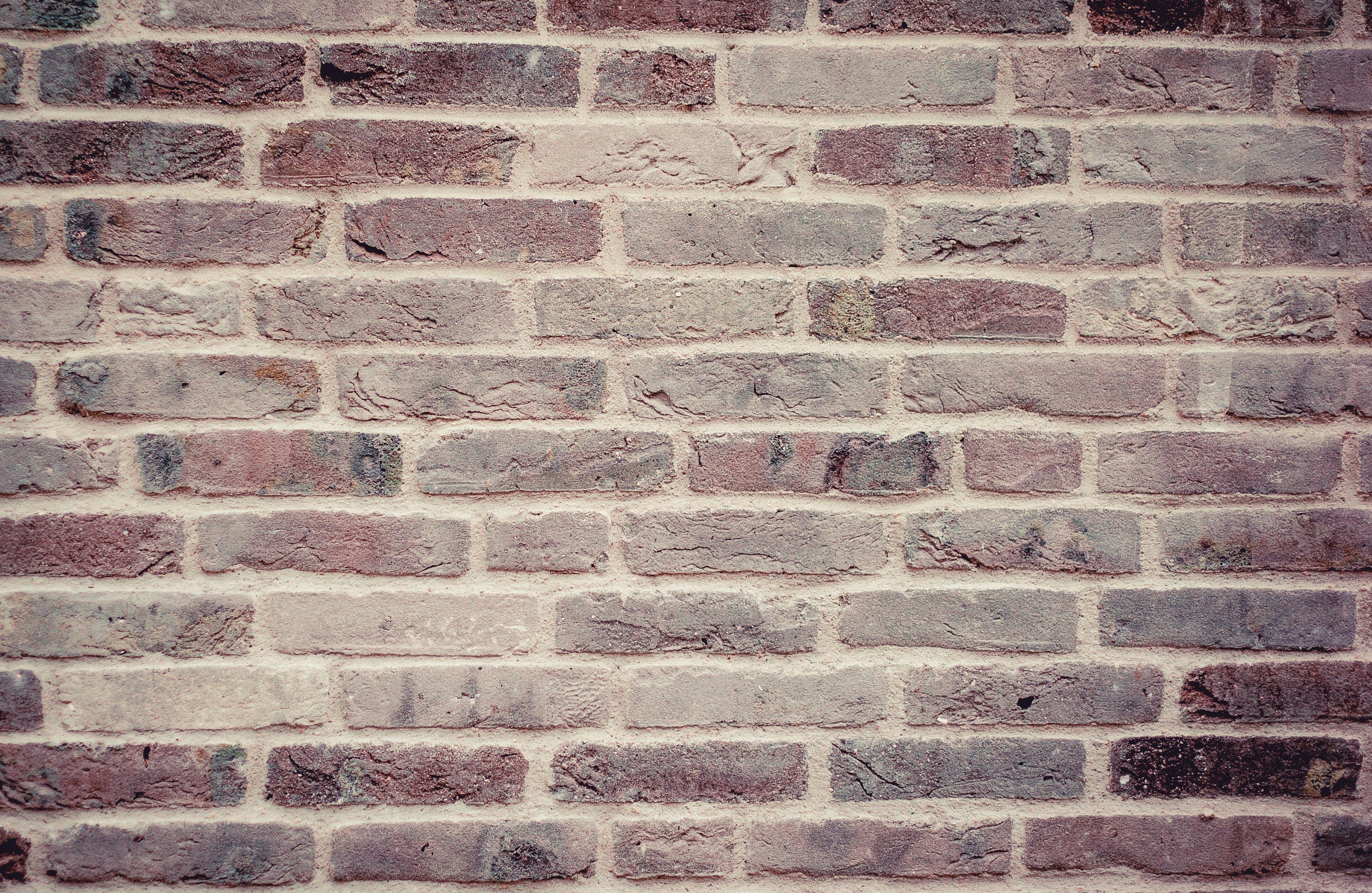 Brown and Grey Wall Brick