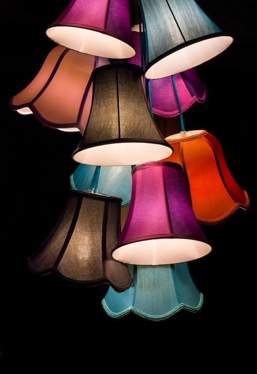 吊燈, 燈光, 燈具, 燈火 的 免費圖庫相片
