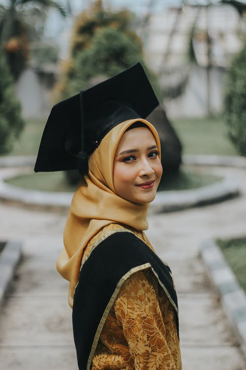 Woman Wearing Black Square Academic Cap