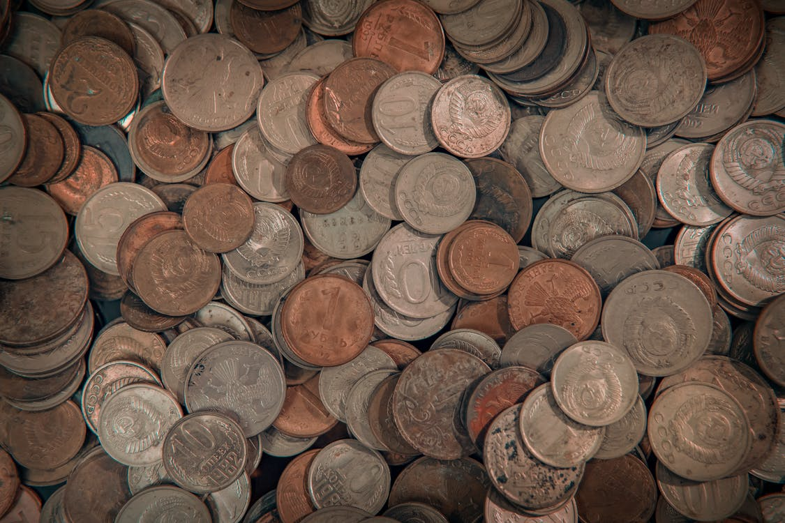 Brown and Silver Round Coins