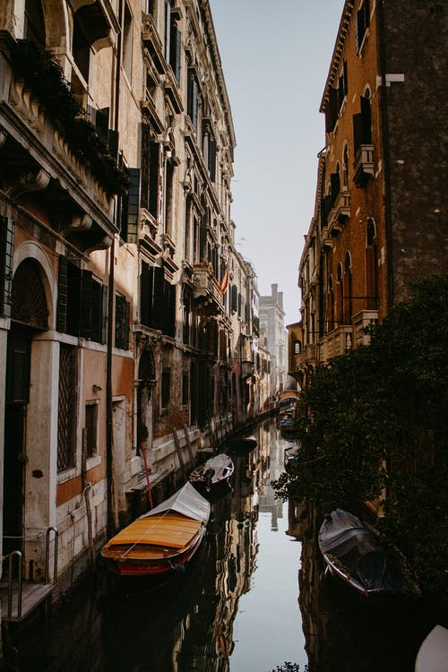Gondolas on a Canal