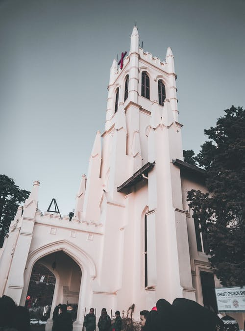 Free stock photo of church, church building, colors in india, hill
