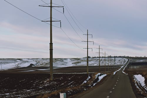 Photo of Highway Near Power Lines