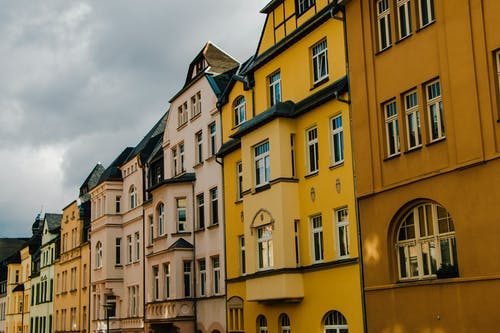 Free stock photo of colorful houses