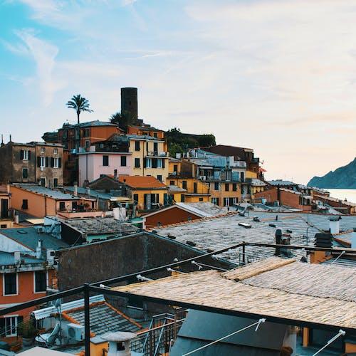 Colorful Buildings in Mediterranean Town