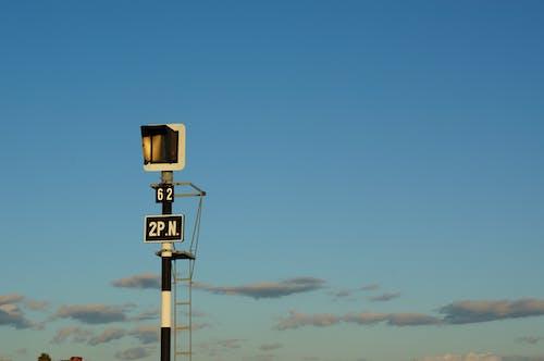 Free stock photo of railway lines, signpost, traffic light