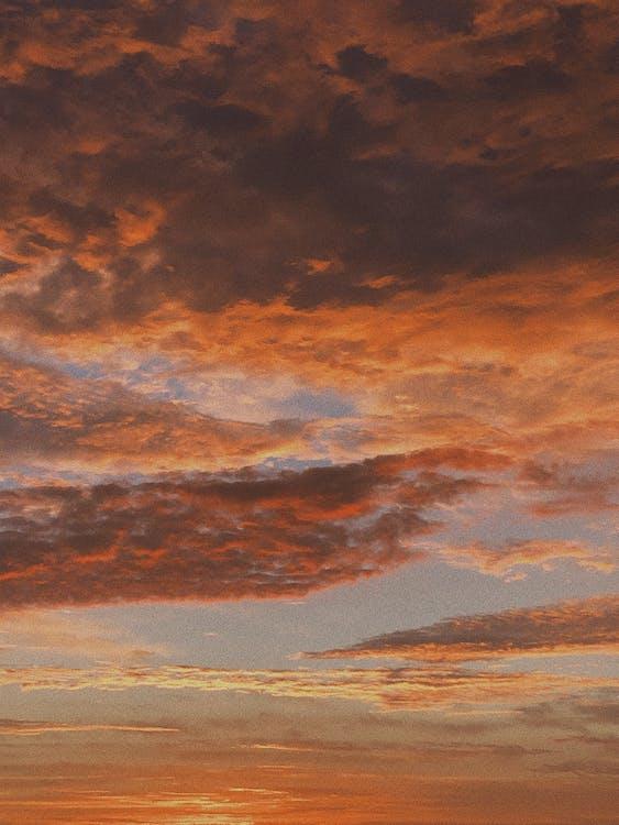 Photo De Ciel Nuageux Orange