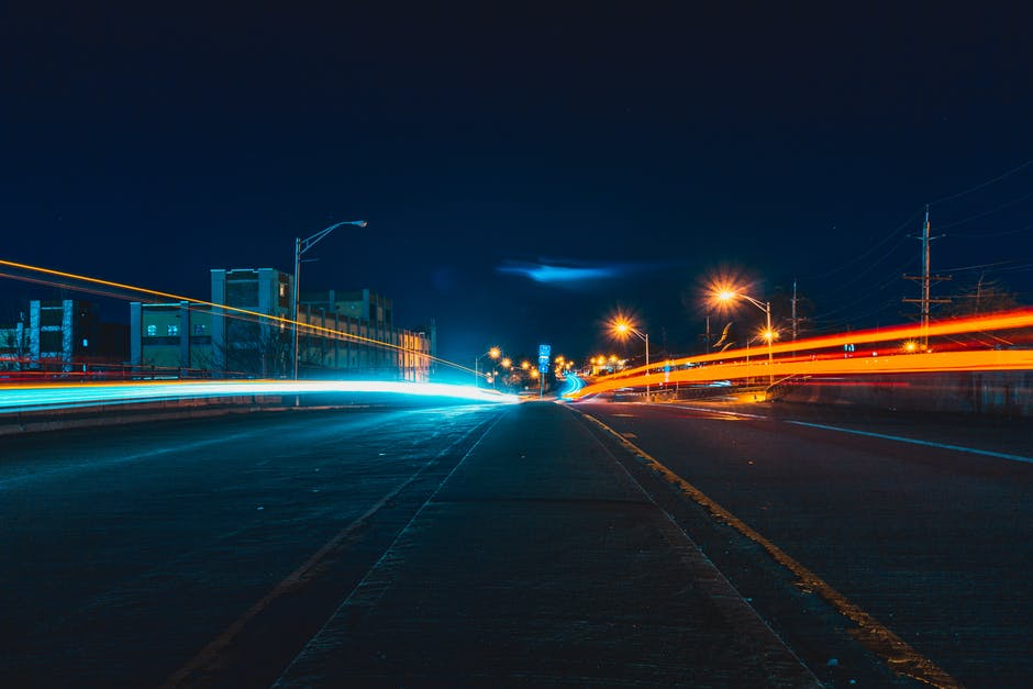 New free stock photo of city, road, lights