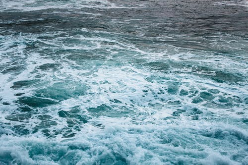 dalgalar, deniz, havadan, kuş bakışı içeren Ücretsiz stok fotoğraf