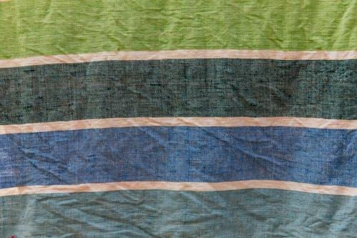 Multicolored crumpled linen cloth