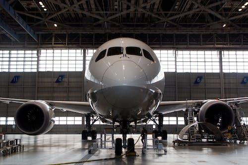 Free stock photo of airplane, engine, hangar