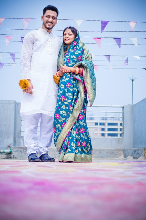 Free stock photo of couple, indian, newly married, outdoor