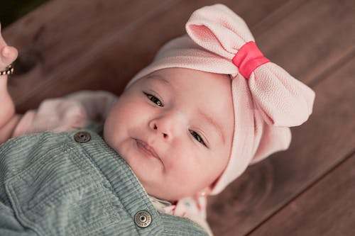 Baby in Pink Knit Cap