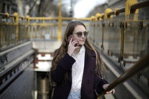Woman Wearing Black Sunglasses