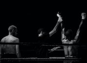 black-and-white, sport, fight