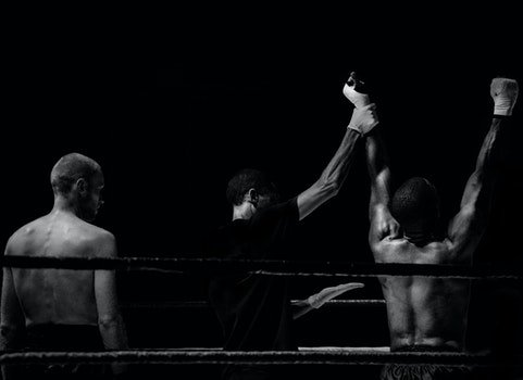 HD wallpaper of black-and-white, sport, fight, boxer