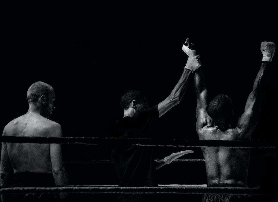 black wallpaper, black-and-white, boxer