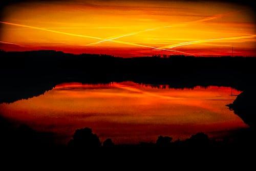 Free stock photo of orange sky