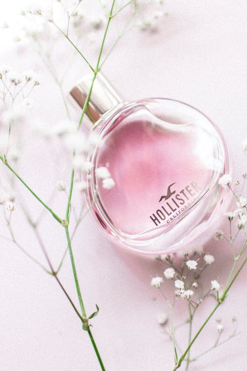 Close-Up Photo of Hollister Fragrance Bottle
