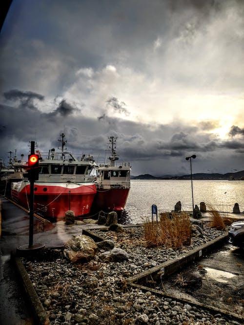 Free stock photo of alesund, atlantic ocean, cloudy day, cruise ship