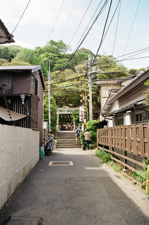 Alley Leading to a Torii Gate
