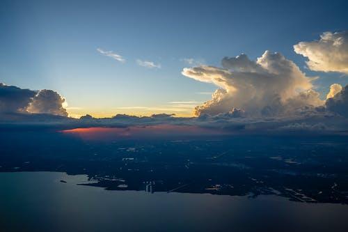 Gratis lagerfoto af flyvemaskine, gylden time, landskab, rejse