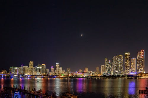 Free stock photo of cities, city scape, long exposure, miami