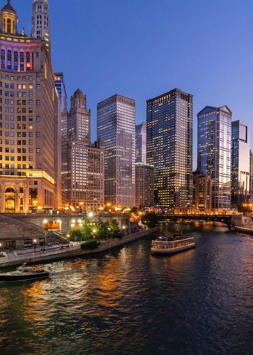 Gratis lagerfoto af byer, bygninger, chicago, chicago floden