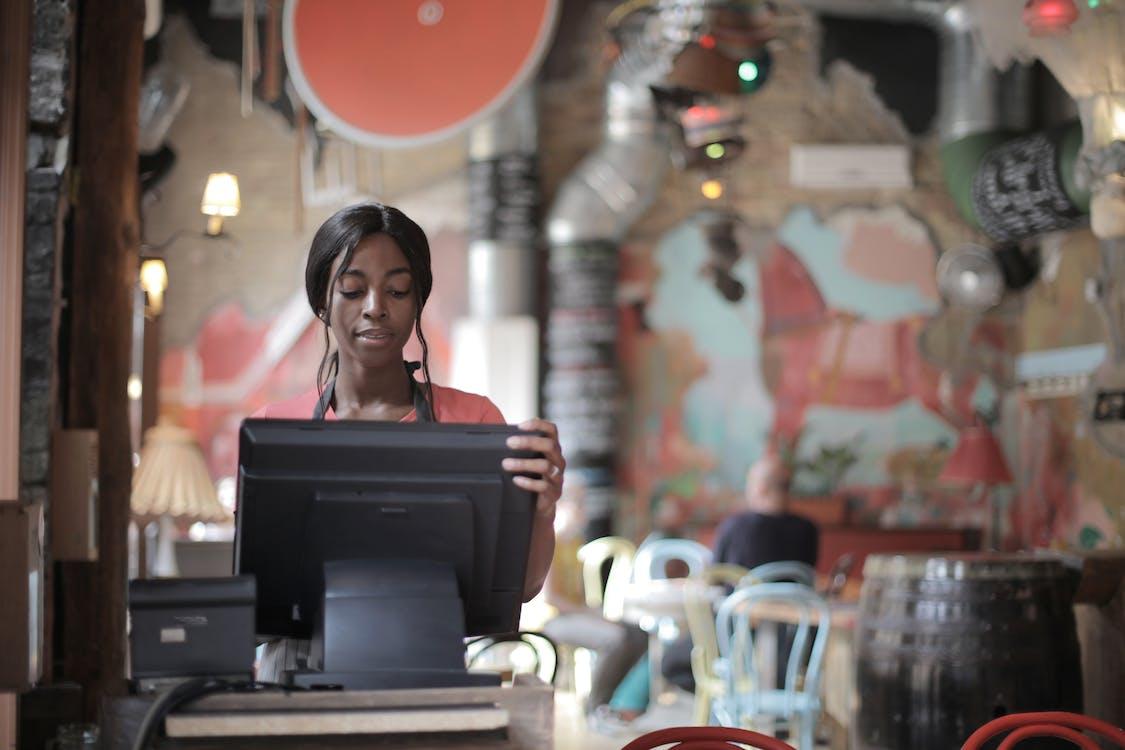 Cashier at a Restaurant