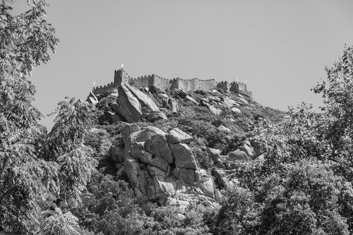 Free stock photo of black and white, castle