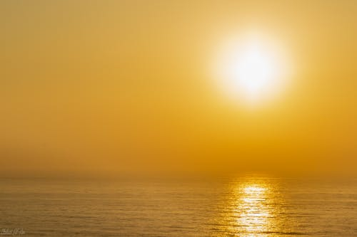 Free stock photo of beach sunset, simple, sunset