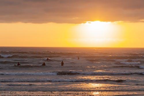 Free stock photo of beach sunset, cloud, sand
