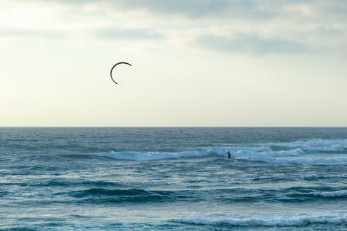 Free stock photo of ocean, wind surfing