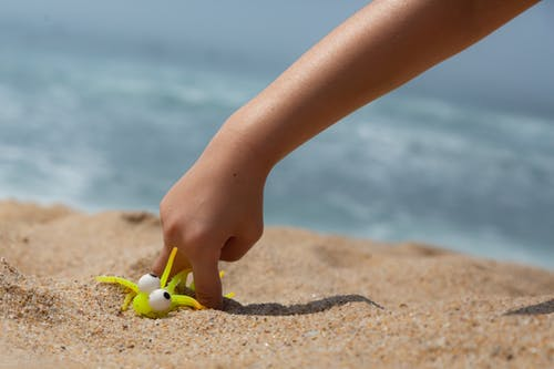 Free stock photo of sand, toy