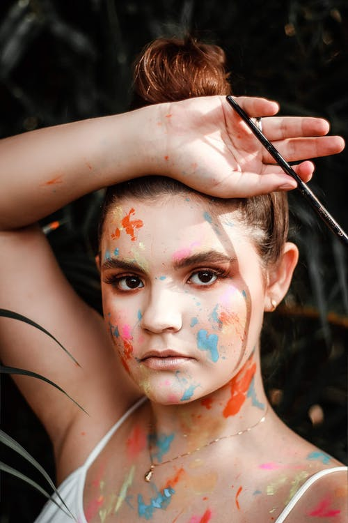 Woman With Face and Body Paint