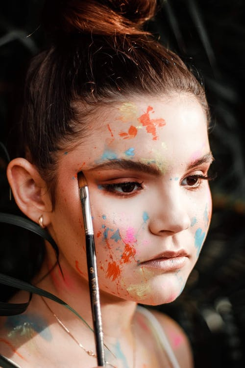 Woman With Face Paint