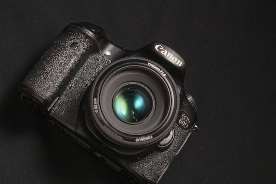 Foto d'estoc gratuïta de càmera, càmera negra, Canon