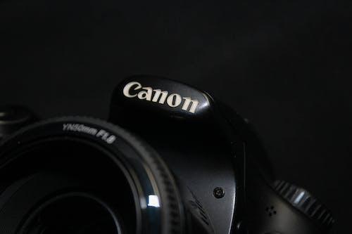 Free stock photo of black camera, camera, canon