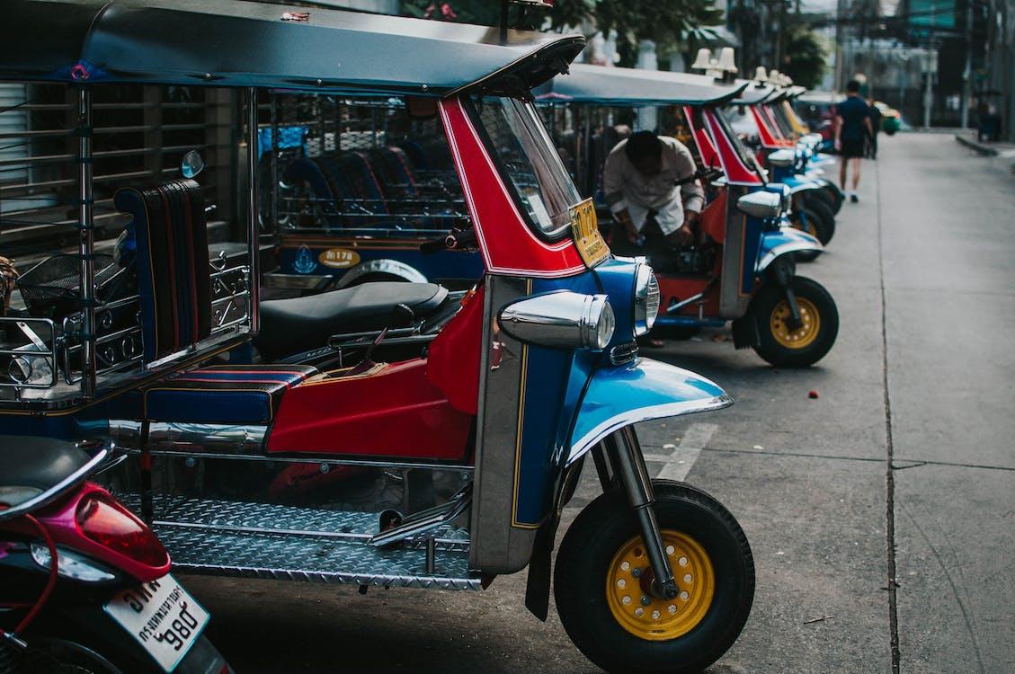 Photo of Auto Rickshaw Parked on Pavement