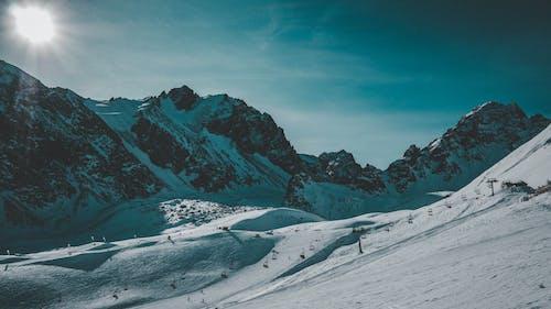 Free stock photo of blue, mounatins, sky, snow