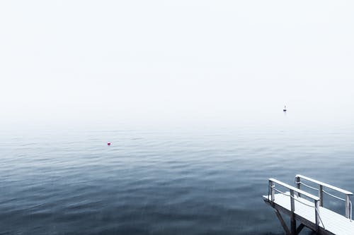 Free stock photo of blue water, foggy, foggy day