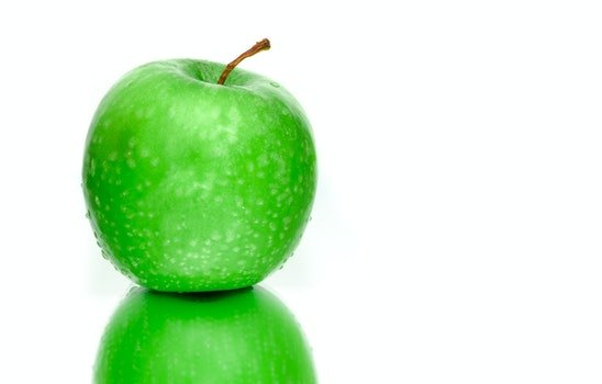 Wet Green Apple