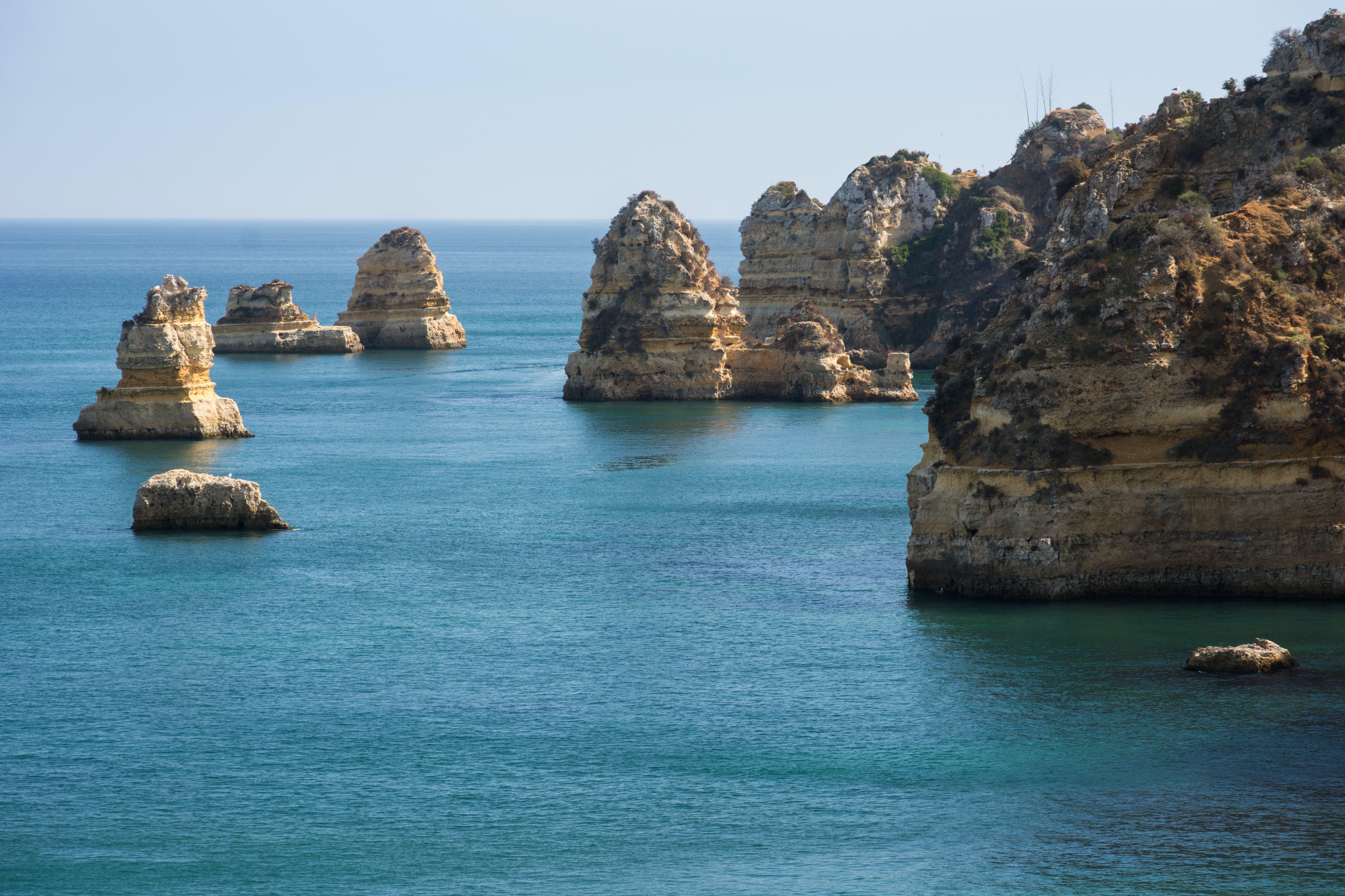 Free stock photo of sea, cliff coast