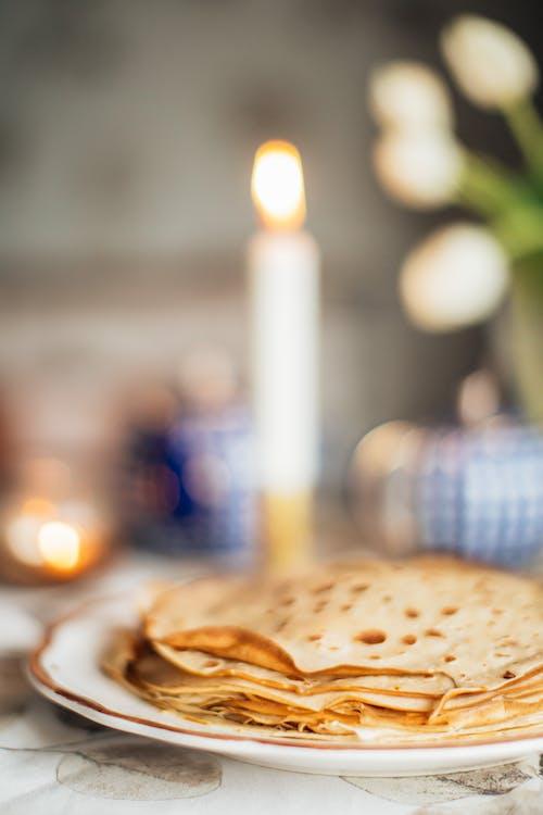 インドア, クレープ, テーブル, フードの無料の写真素材