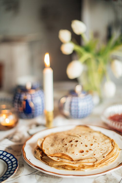 Crepes on Plate