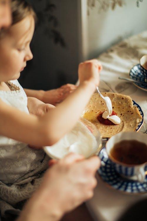 Základová fotografie zdarma na téma blini, čaj, čas na čaj, chutný