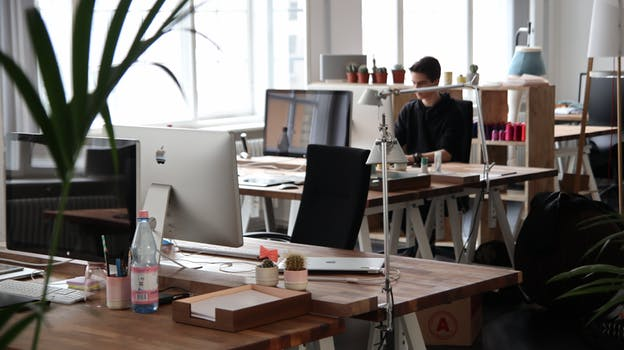 Free stock photo of man, person, desk, office